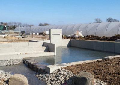 Wasserstelle Neubaugebiet