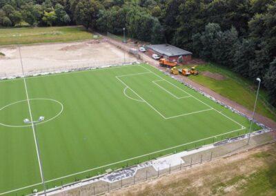 Bauarbeiten Fußballplatz